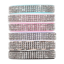 Giltmore Quadruple Row Swarovski Crystal Dog Collar - 20 Colors