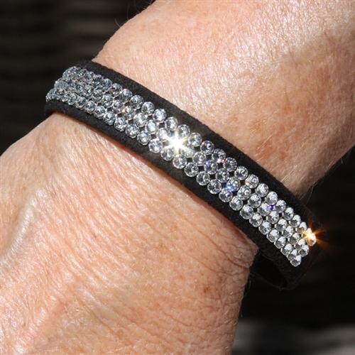 Giltmore Triple Row Swarovski Crystal Bracelet