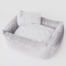 Grande Dame Crystal Dog Bed- Imperial