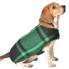 Green Plaid Blanket Coat by Chilly Dog
