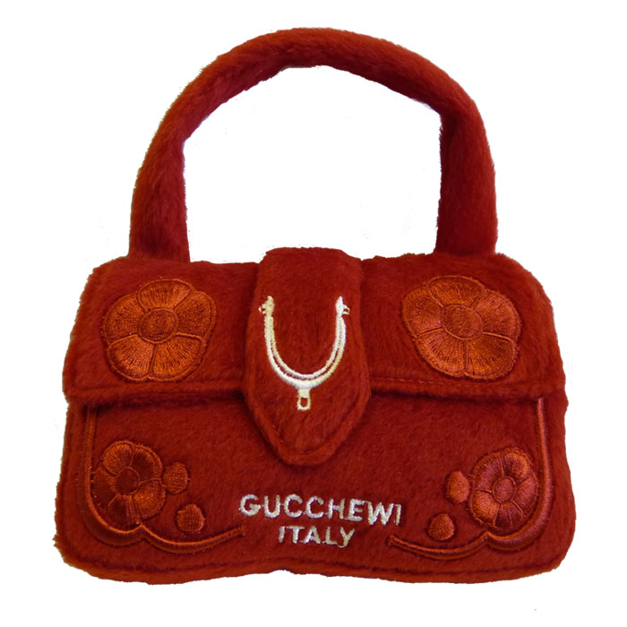 Gucchewi Red Floral Purse Dog Toy At Glamourmutt Com