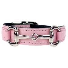 Gucci Poochie Italian Leather Dog Collar - Sweet Pink