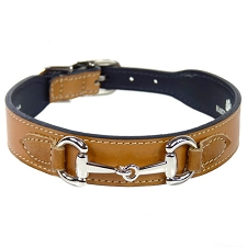 Gucci Poochie Italian Leather Dog Collar - Buckskin Brown