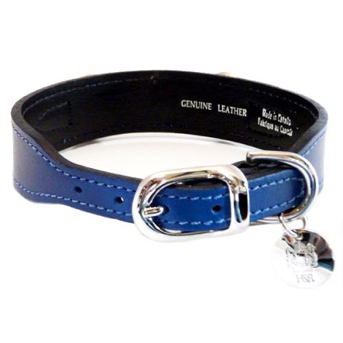 21f0964e80a Gucci Poochie Italian Leather Dog Collar Cobalt Blue