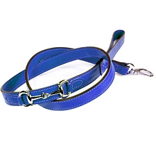 Gucci Poochie Italian Leather Dog Leash - Cobalt Blue