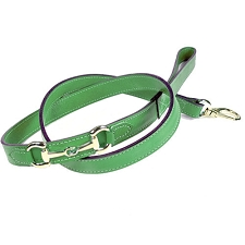 Gucci Poochie Italian Leather Dog Leash - Kelly Green
