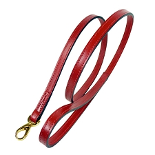 Italian Leather Classic Dog Leash by Hartman & Rose- Ferrari Red
