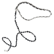 Haute Couture Swarovski Crystal Dog Leash - Jet