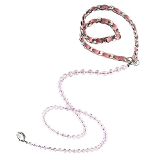 Haute Couture Swarovski Crystal Dog Leash - Rose