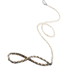 Haute Couture Swarovski Crystal Dog Leash - Golden Shadow