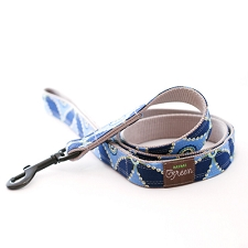 Blue Henry Dog Leash by Mimi Green