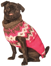Hot Pink Fairisle Dog Sweater
