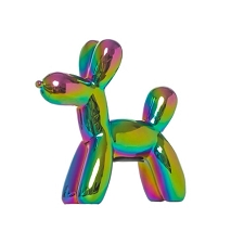 Iridescent Balloon Dog Bank