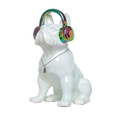 Iridescent Headphone Dog Bank