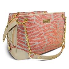 Shacara Zebra Dog Carrier - Coral