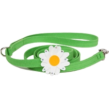 Jumbo Daisy Swarovski Crystal Dog Leash - 20 Colors