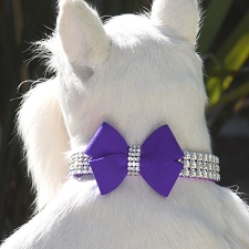Jumbo Nouveau Bow Giltmore Crystal Dog Collar - 9 Colors
