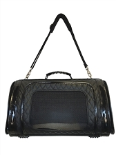 Kelle Dog Carrier by Petote- Black Quilted