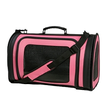 Kelle Dog Carrier by PETote - Hot Pink and Black