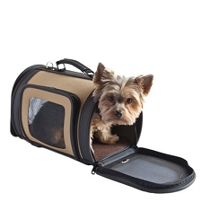 Kelle Dog Carrier by PETote - Tan and Black