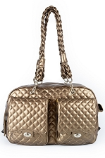Alex Luxe Chains Dog Carrier by Kwigy Bo - Bronze