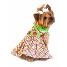 Ladybug Plaid Dog Dress