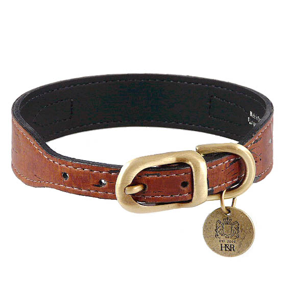Cork Amp Leather Simplicity Dog Collar Burnt Umber