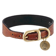 Cork & Leather Simplicity Dog Collar - Burnt Umber