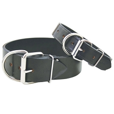 Latigo Full Grain Leather Dog Collar - Black