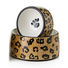 Leopard Spots Dog Bowl