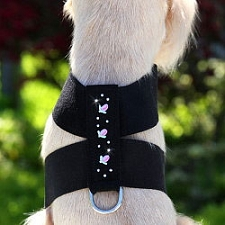 Rosebud Swarovski Crystal Dog Harness - 20 Colors