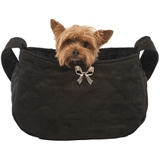 Lil Coco Bow Snuggle Sack - Black