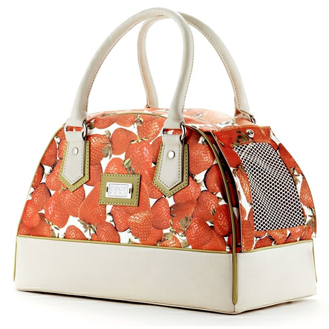 Lilly bel air strawberries dog carrier by cece kent - Dog purse carriers designer ...