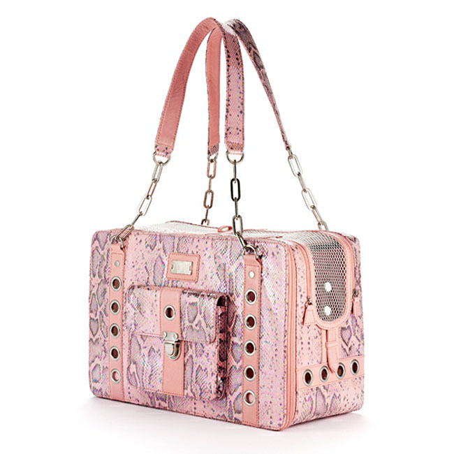 Cece Kent Lilly Rio Dog Carrier In Rose Leather Pet