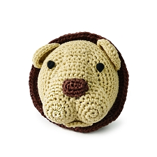 Lion Crochet Dog Toy