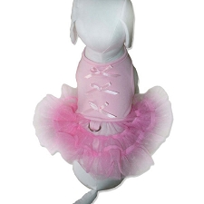 Little Ballerina Tutu Harness Dress- Light Pink