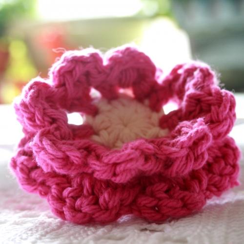Mimi Green Lollipop Pink Crochet Flower Dog Collar Designer Dog