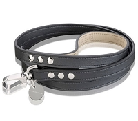 Lorica Leather Waterproof Sailor Dog Leash - Black