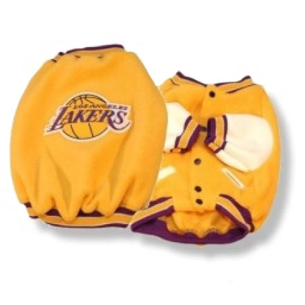 29f64a09a1a Los Angeles Lakers Dog Jacket- Officially Licensed NBA Pet Clothes at  Glamourmutt.com