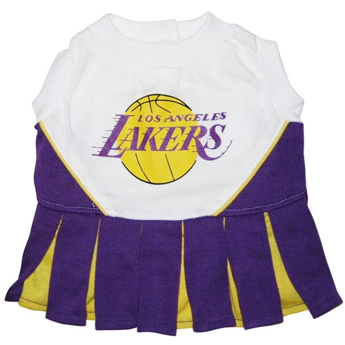 Los Angeles Lakers Dog Cheerleader Dress Clothes