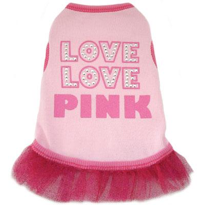 Love Love Pink Dog Tutu Dress  Cute Dog Clothes at Glamourmutt.com