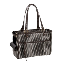 Lucky Dog Carrier by PETote - Reverse Noir Dots