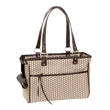 Lucky Dog Carrier by PETote - Noir Dots