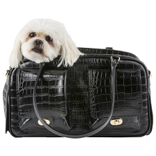 Marlee Dog Carrier- Black Croco