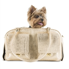 Marlee Dog Carrier- Gold Croco