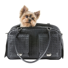 Marlee Woven Dog Carrier- Black