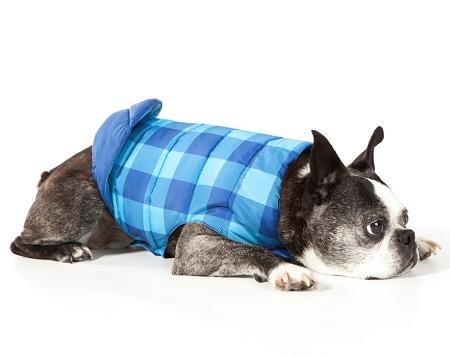 Mascot Buffalo Plaid Reversible Puffer Dog Jacket