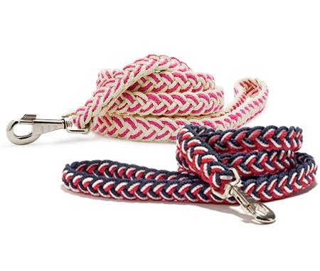 Sailors Knot Multicolor Braided Dog Leash