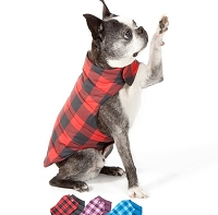 Buffalo Plaid Reversible Puffer Dog Jacket