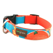 Media Naranja Oilcloth Dog Collar by Mimi Green